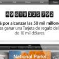 """La firma tecnológica Apple regalará una tarjeta de 10,000 dólares para su tienda de aplicacionesAppStore al usuario que descargue la app 50,000 millones. """"Nos estamos acercando a los 50,000 millones..."""